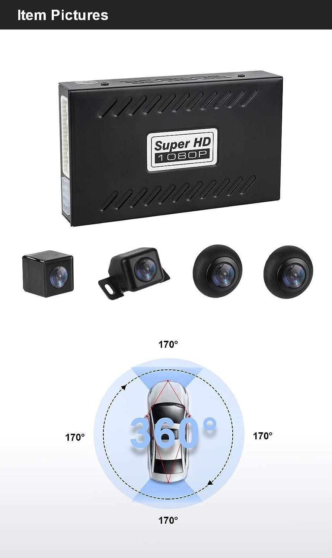 MiCarBa Cam/éra de recul Universelle 1080p panoramique 360 degr/és avec capteur G et Enregistrement de Voiture /étanche