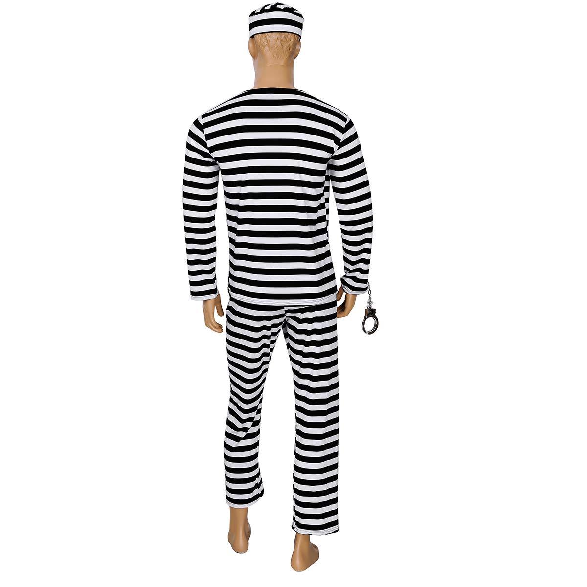 Freebily Disfraces de Preso Prisionero Adultos Conjunto con ...