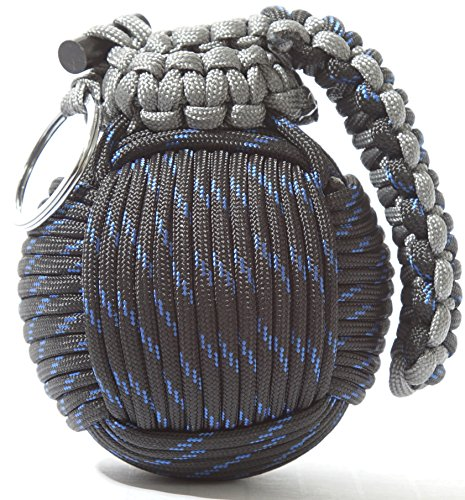 Holtzman's Survival Kit Paracord Grenade The #1 BEST 48 tool emergency kit (Blue/Black)