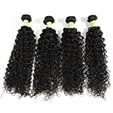 natural curl stretching cream - Fani Curly Hair Weave 4 Bundles Virgin Brazilian Kinky Curly hair 20 22 24 26 Unprocessed Brazilian Virgin Human Hair Extensions Can Be Dyed and Bleached Tangle Free