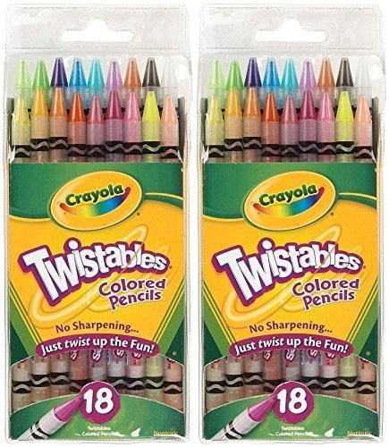 Twistables Colored Pencils - Crayola 18ct Twistables Colored Pencils (2 Pack)