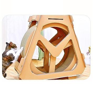 Muebles para Gatos Cinta De Correr Corrugado Rueda De La Fortuna Tablero del Rasguño del Gato Gato Escalada Marco Rotación De La Rueda: Amazon.es: Hogar
