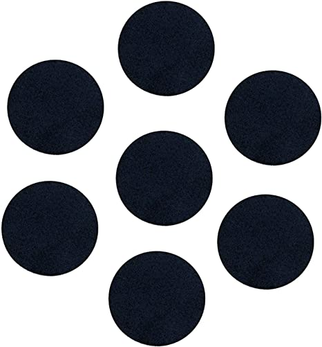 200 Count, White 1 Inch, Adhesive Felt Circles; Adhesive Felt Circles for DIY and Sewing Handcraft