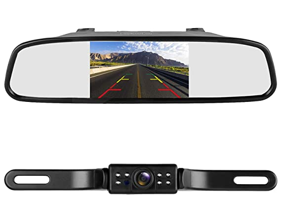 LeeKooLuu Reverse/Rear View Camera and Mirror Monitor Kit Only Wire on