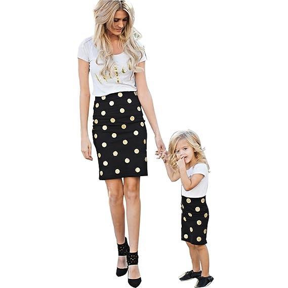 1ecaa22d93e3 USGreatgorgeous Women s Mom   Parent-Child Summer Letter Print Short Sleeve  T-Shirt Tops