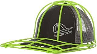 product image for BallcapBuddy Cap Washer-Hat Washer Now Endorsed by Shark Tank - The Original Patented Baseball Cap Cleaner Cage/Frame/Shaper for Flat Billed and Curved Caps - New NEON Green - Made in USA