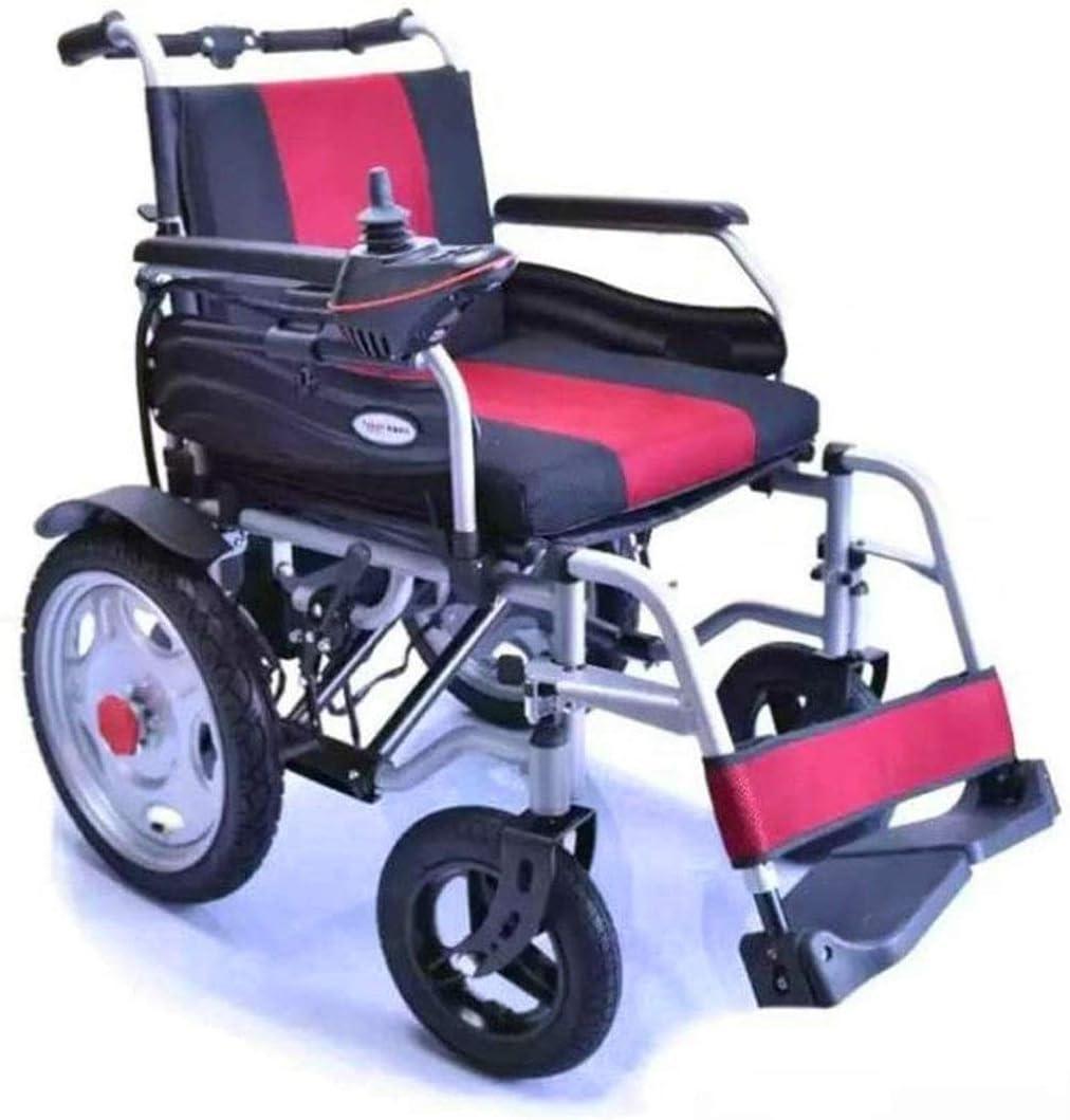 Fangfang Silla de Ruedas eléctrica Plegable, Mejor Silla de Ruedas sillas de Ruedas New 2020 Silla de Ruedas eléctrica Plegable Ligero Pesado Energía Eléctrica motorizado