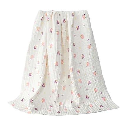BWINKA Muselina 6 capas bebé toallas de baño Impresión animal encantador también caliente para manta Mejor