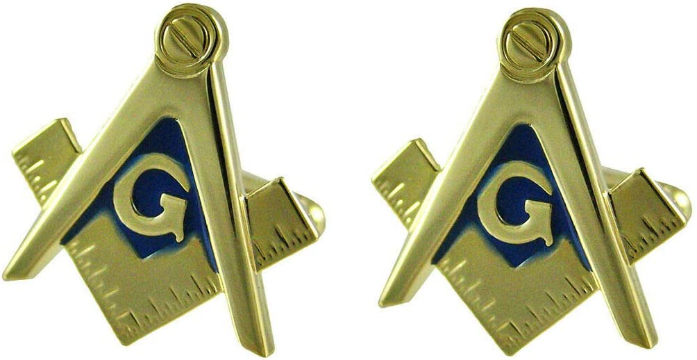 Best d/écor d Masonic Compass /& Square Cufflinks Mason