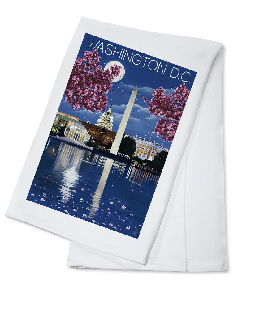 【在庫有】 ワシントンDC – Cotton ナイトシーン 4 Cotton Coaster Set Set LANT-43875-CT B0184BR6OO Cotton Towel Cotton Towel, 蔵元屋:7f6c8f99 --- mcrisartesanato.com.br