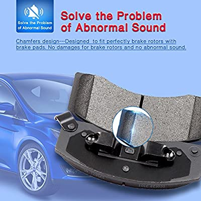 Premium Ceramic Disc Brake Pad FRONT REAR Fits Ford Explorer Taurus KFE1508-1377