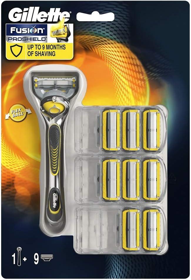 Gillette Fusion ProShield Maquinilla de afeitar - 9 Recambios