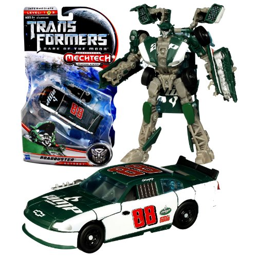 "Hasbro Year 2010 Transformers Movie Series 3 ""Dark of the Moon"" Deluxe Class 6 Inch Tall Robot Action Figure with MechTech Weapon System - Autobot ROADBUSTER with Blaster that Converts to Assault Saw (Vehicle Mode: #88 Dale Earnhardt Jr. Track Race Car)"
