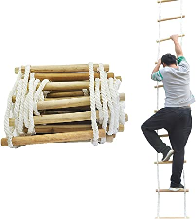LUUDE Escalera de Incendios de Emergencia, Inicio Escala Que Sube Ingeniería Reutilizable Seguridad Escalera de Cuerda con Ganchos para la evacuación Rescate Pared de la reparación,30M: Amazon.es: Hogar