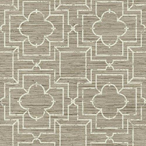 York Wallcoverings GE3661 Ashford Geometrics Iron Gate Trellis Wallpaper, Taupe/Cream ()