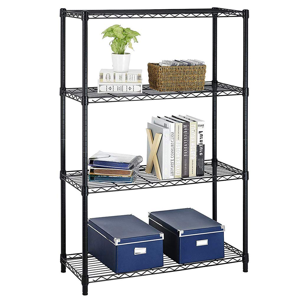 NSF Wire Shelf Metal 4shelf Wire Shelving Unit Garage Large Storage Shelves Heavy Duty Height Adjustable Utility Commercial Grade Steel Layer Shelf Rack Organizer for Kitchen Bathroom Bedroom,Chrome