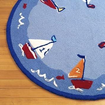 Amazon Com Pottery Barn Kids Baby Boats Rug Nursery