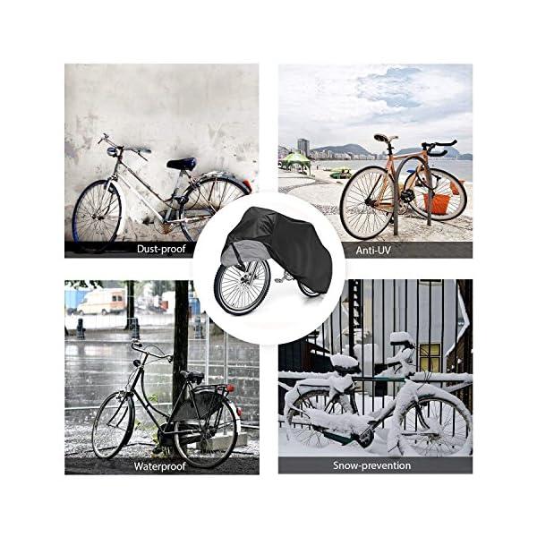BICASLOVE Fahrradabdeckung Wasserdicht, Fahrradschutzhülle Fahrradträger für 2 Fahrräder Wasserfest Atmungsaktiv…