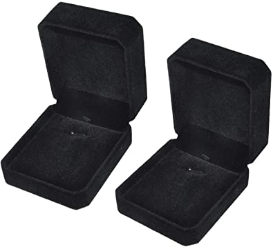 Amyzor - Juego de 2 Piezas de Collar de Terciopelo clásico, Caja ...