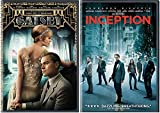 Inception & The Great Gatsby DVD 2 Pack Leonardo DiCaprio Double Feature Movie Set