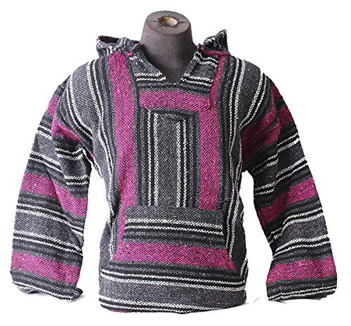 Classic Mexican Style Baja Jacket (XL, Hot Pink)
