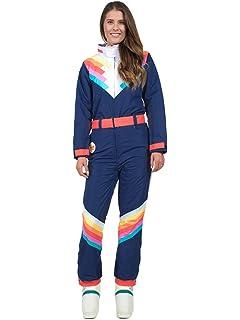 8628ffd0a2 Tipsy Elves Women s Santa Fe Shredder Retro Ski Suit - 80 s Style Neon  Rainbow Snow Suit