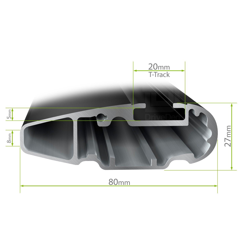 Thule TH-WBS-0033 WingBar Evo Silver Aero Aluminium Roof Bar Set Closed Roof Rails