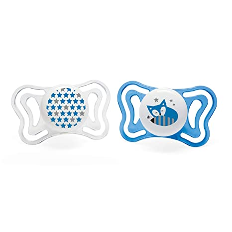 Chicco Physio Light - Pack de 2 chupetes de silicona 6-16 m, color ...