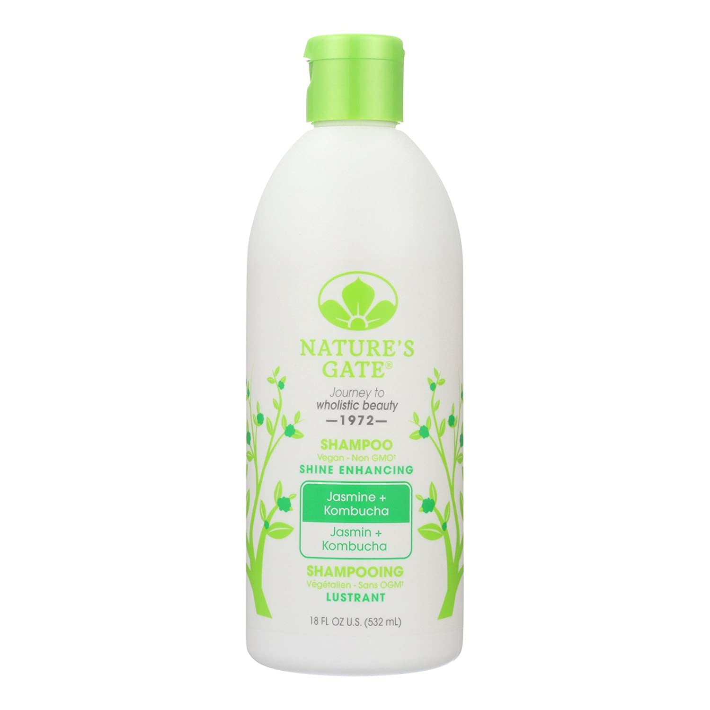 2 Pack of Nature's Gate Jasmine Kombucha Shine Enhancing Shampoo - 18 Fl oz.