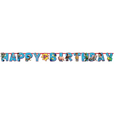 """amscan Toy Story 4"""" Birthday Add-an-Age Letter Party Banner Kit, 25 Pc., 120492: Toys & Games"""