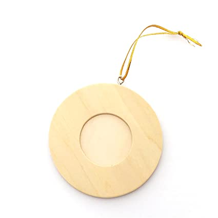 Amazon.com - LWR Crafts Wooden Mini Round Photo Frame Pack of 12 -