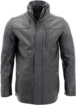 Men's Classic Warm Black Leather Biker Jacket