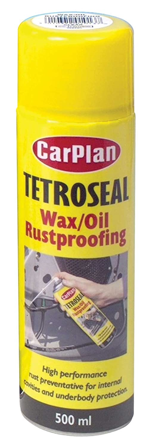 TETROSYL LTD Carplan Tetroseal Waxoil Aerosol Spray Rust Proofing Coating Black 500ml TWO501