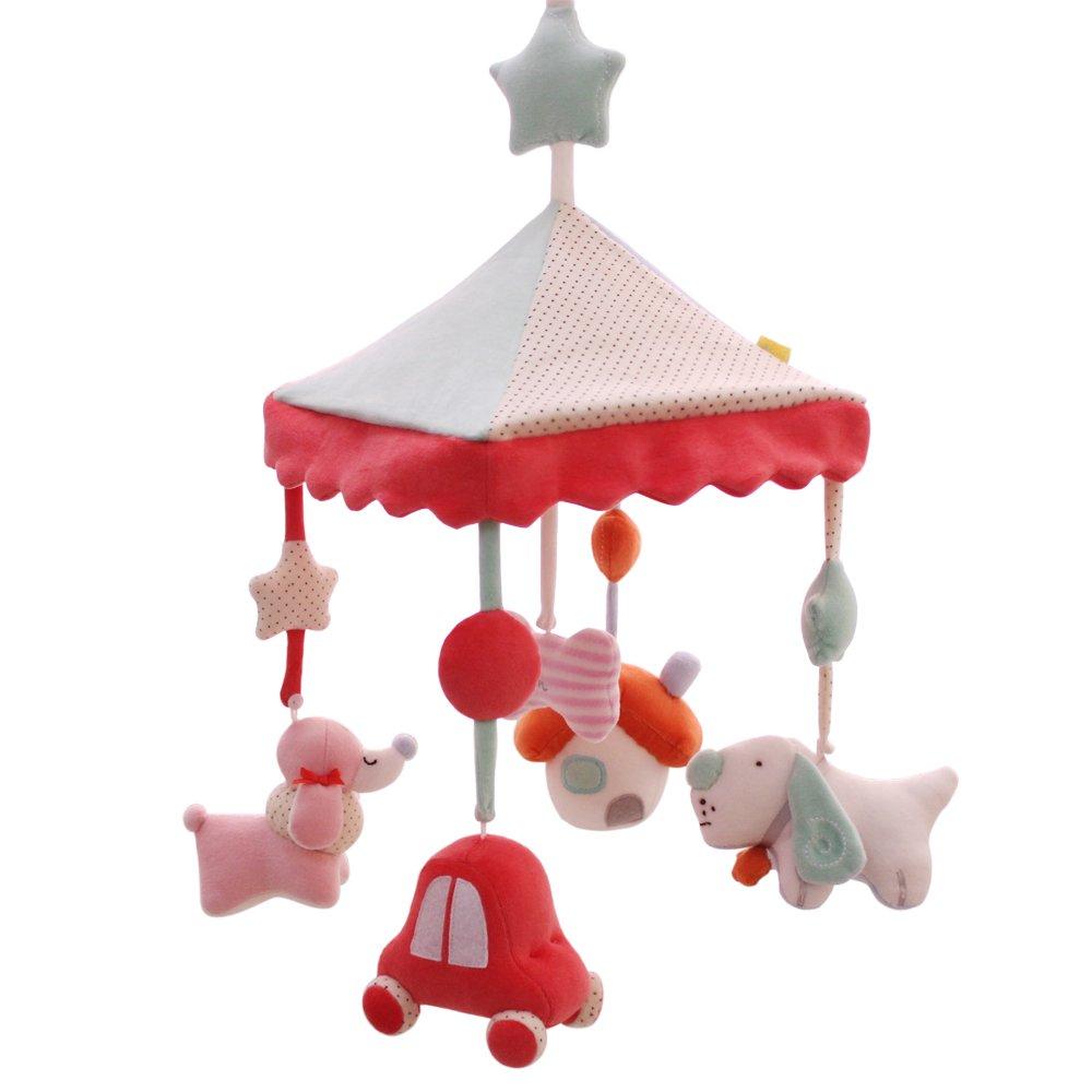 SHILOH Baby Crib Decoration Newborn Gift 60 tunes Plush Musical Mobile (Lucky Dog)
