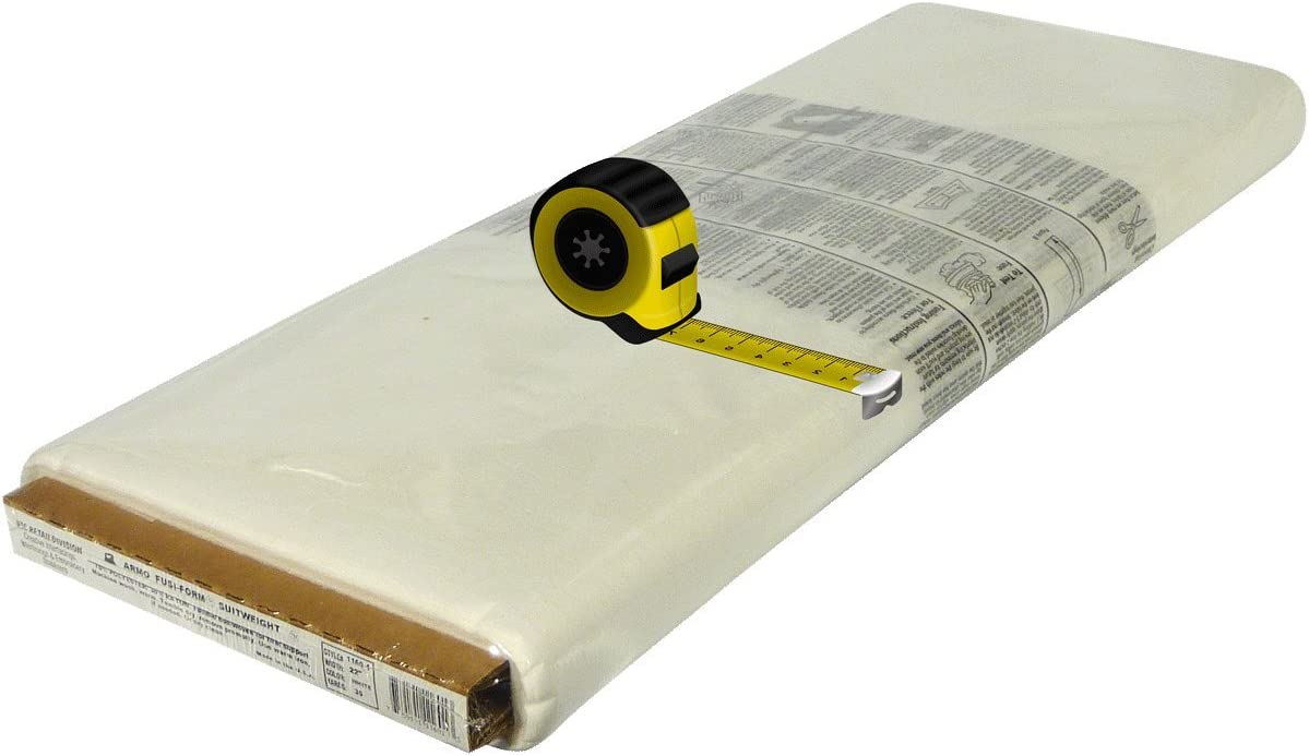 24 inches wide Fusi-Form Suitweight HTC1160-1 interlining interfacing sold by the yard