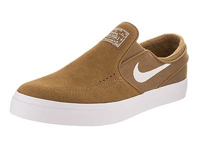 NIKE Men's Zoom Stefan Janoski Slip Golden Beige/White Skate Shoe 8.5 Men US
