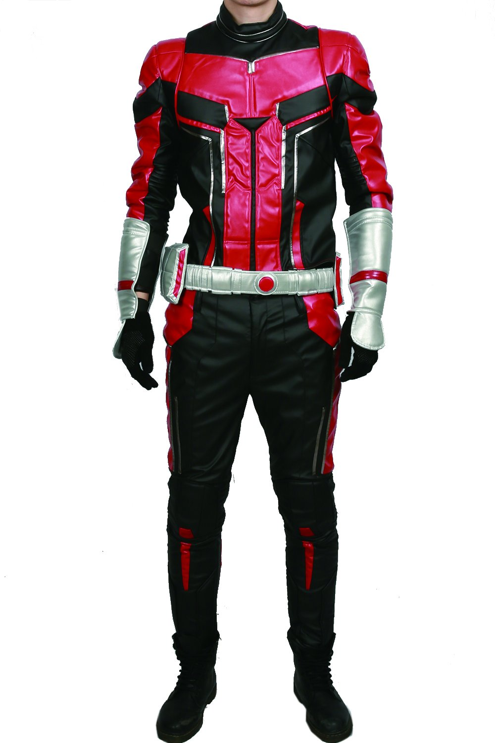 xcoser Ant Man Costume with Helmet Deluxe PU Cosplay Outfit Belt Gloves Full Suit Halloween Custom Made by xcoser (Image #2)