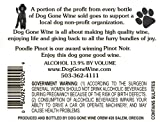 NV Dog Gone Wine- Poodle Pinot Fruit Wine 750 mL