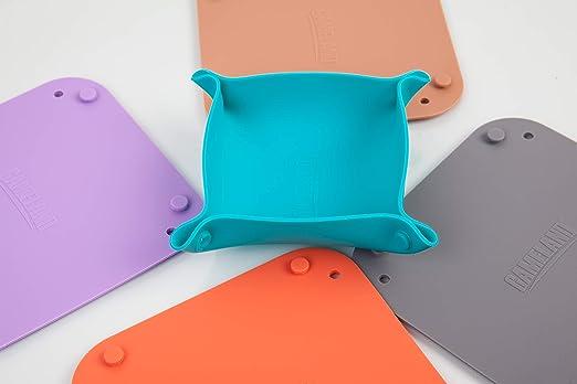Gameland - Juego de 5 bandejas de silicona plegables para juego de mesa: Amazon.es: Hogar