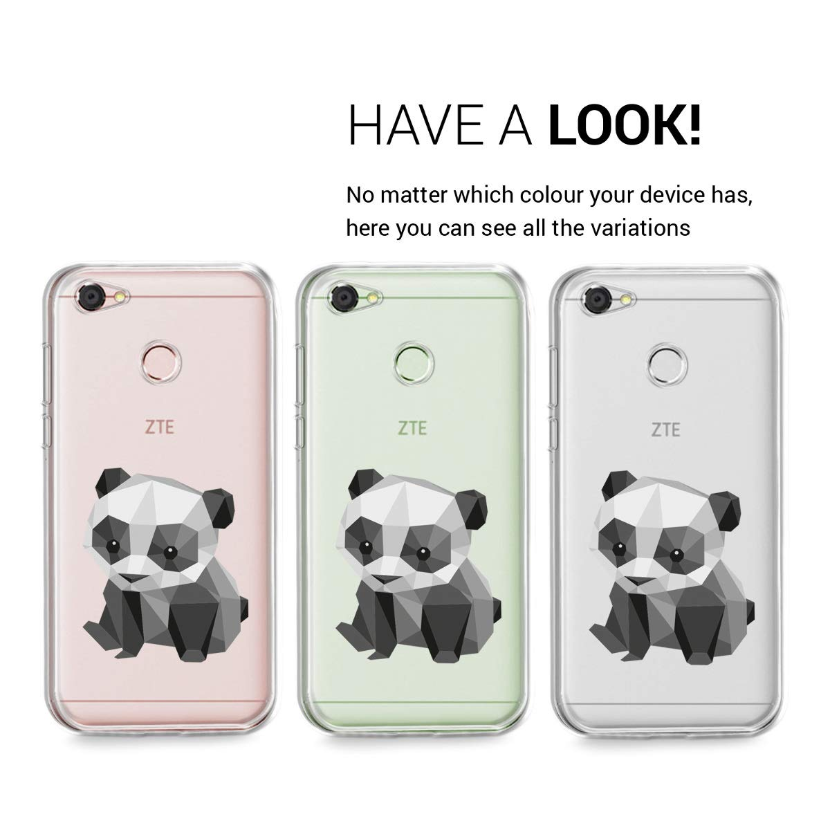 Amazon.com: kwmobile TPU Silicone Case for ZTE Blade A6 ...