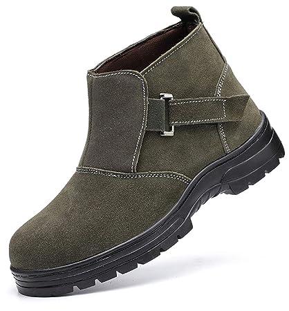 ZYFXZ Zapatos de Seguridad Zapatos de algodón con Puntera de Acero de Acero de Alto Acero
