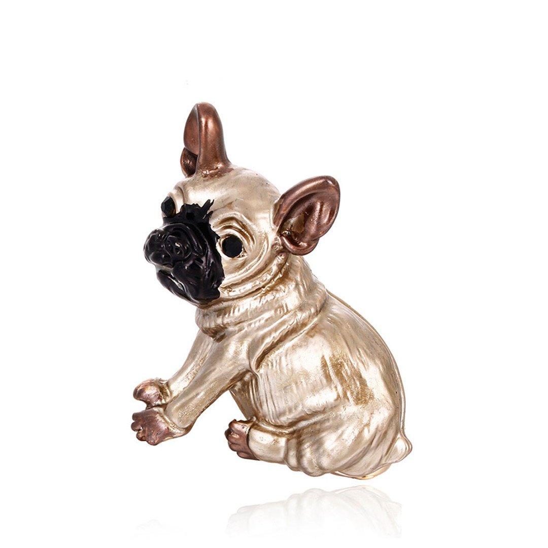 MLXZ Cute Pug Dog Brooches Bulldog Animal Corsage Pins Kids Girls Shirt Coat Clips Brooches Clothes Accessories Jewelry CC18336A