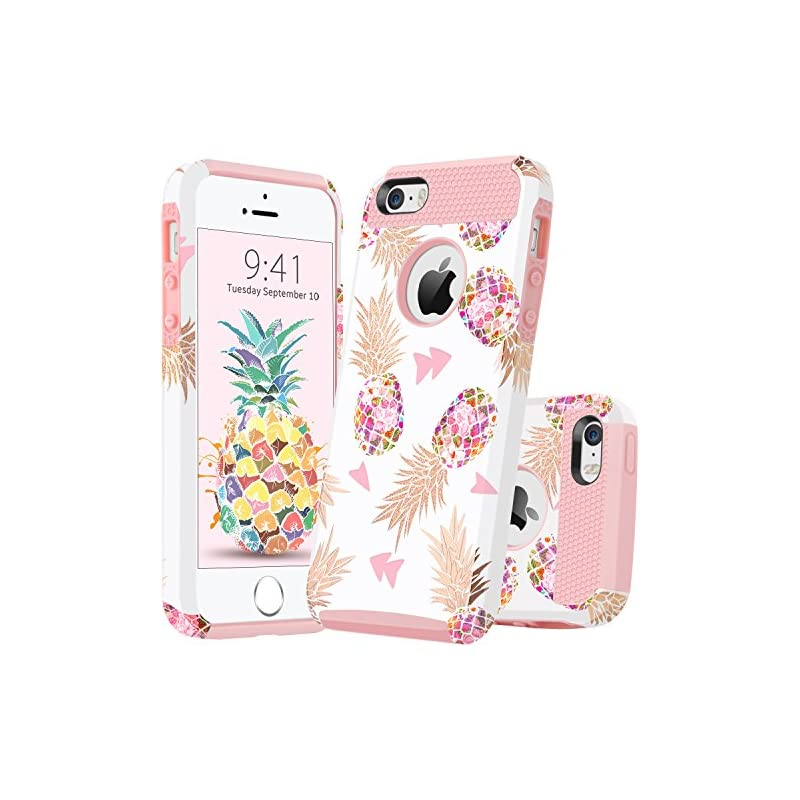 GUAGUA iPhone SE Case iPhone 5S Case iPh