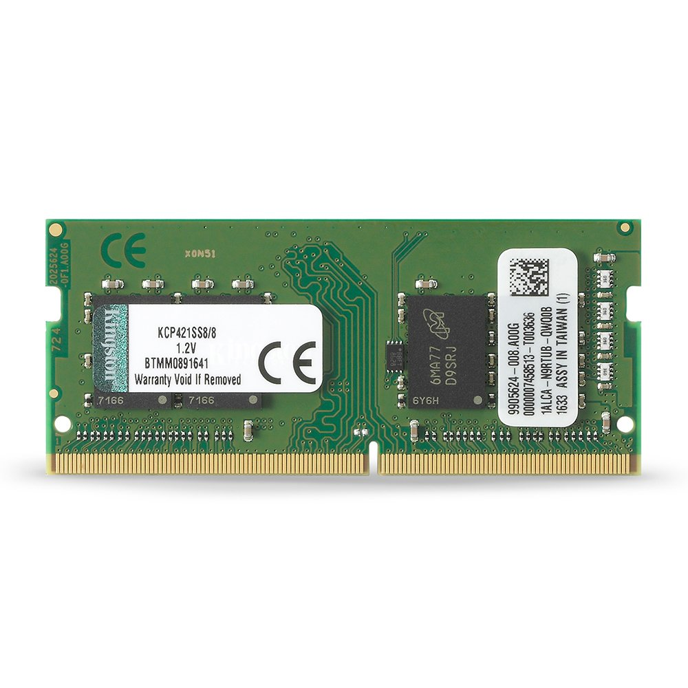 Kingston Technology 8GB DDR4 2133MHz SODIMM Memory Acer, Dell, Fujitsu, & Lenovo Laptop KCP421SS8/8 by Kingston Technology
