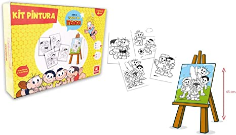 Brinquedo Para Colorir Turma Da Monica Com 4 Telas Brincadeira De