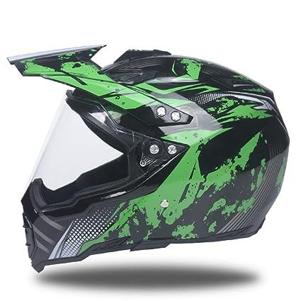Casco de moto, Off-road Motocicleta Casco de pull Protección uv Lente Locomotora Casco