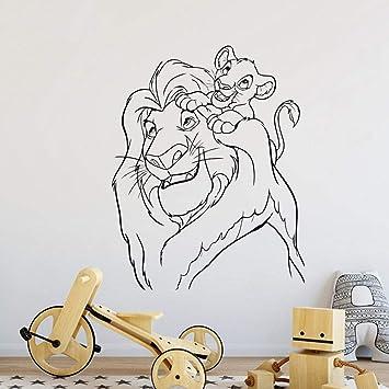 pegatinas decorativas pared Lion King Tatuajes de pared Dibujos ...