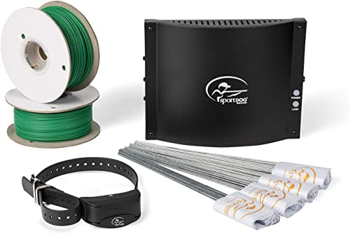 SportDOG Brand In-Ground Fence Systems from the Parent Company of INVISIBLE FENCE Brand – Underground Wire Electric Fence – Tone, Vibration, Static – 100 Acre Capability – Remote Trainer Option