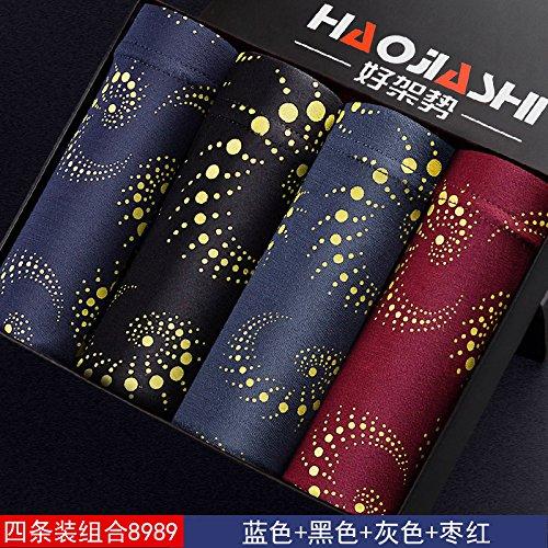 Calzoncillos ropa interior de fibra de bambú pantalones cortos escritos jóvenes fertilizante Plus 4pcs,h,2xl Greatlpk x