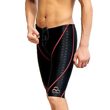 e1aeab485e Amazon.com: Fanceey Men Competitive Swim Trunks Shark Skin Swimwear Brand  Jammer Swimsuit Fifth Shorts Pants Plus Size: Clothing